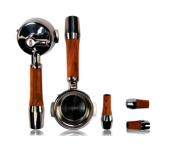 Olive wood handle set with lever valves
